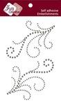 Smoke Double Flourish B Crystal Stickers - Zva Creative