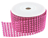 Diamond Mesh 3mm Rhinestone Crystal Ribbon Fuchsia Pink - 12 inches Diamond Mesh Crystal Ribbon can be used on invitations, scrapbook pages, greeting cards, weddings, birthdays, baby showers, decorating cakes, vases, chairs, frames and so much more.     These shiny 3mm bling stones imitate the appearance of rhinestone and crystal diamonds. (these are not actual diamonds or rhinestones)The color of this image may appear red, but this item is more hot pink/fuschia than red.    Cut this ribbon to any size to fit your project.    Ribbon measures: 1.5 inches  wide x 12 inches