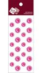 Rosy Crystal Mini Flower Stickers - Zva Creative