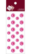 Rosy Crystal Mini Flower Stickers - Zva Creative