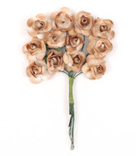 Brown Mini Paper Rose Flower Bouquet