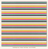 Stripes Paper - Cambridge Court - Kate & Co - My Minds Eye
