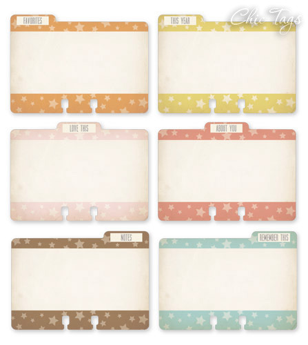 Birthday Cake File ATC Journaling Tags  - Chic Tags