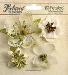 Ivory Mixed Textured Blossoms - Petaloo