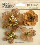 Mocha Mixed Textured Blossoms - Petaloo