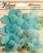 Teal Mixed Textured Layers - Petaloo