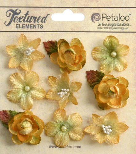 Amber Mixed Textured Mini Blossoms - Petaloo