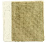 Burlap 6 x 6 Stitched Scrapbook - Canvas Corp