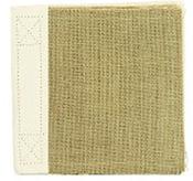 Burlap 6 x 6 Stitched Scrapbook - Canvas Corp