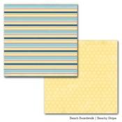 Beachy Stripe Paper - Beach Boardwalk - Carta Bella