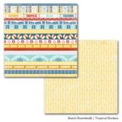 Tropical Borders Paper - Beach Boardwalk - Carta Bella