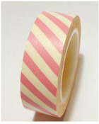 Red & Yellow Stripe Washi Tape - Love My Tapes