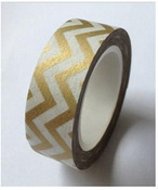 Gold Chevron Washi Tape - Love My Tapes