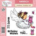 Angelica Birthday Wishes Rubber Stamp Set - Crafters Companion