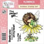 Florence Thank You Rubber Stamp Set - Crafters Companion