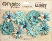 Aqua Medium Wild Blossoms - Petaloo