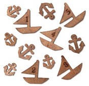 Boats & Anchors Laser Cut Veneer Shapes - Atlantic - Studio Calico