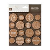 Cork Circle Stickers - Atlantic - Studio Calico