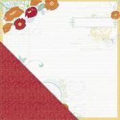 Garden Journal Paper - Poppy - Little Yellow Bicycle