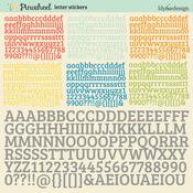 Pinwheel Letter 12 x 12 Sticker Sheet - Lily Bee