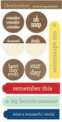 Destination Circle And Tag Stickers - Lily Bee