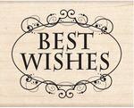Best Wishes Wood Stamp - Inkadinkado