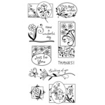 Garden Greetings Clear Stamp Set - Inkadinkado