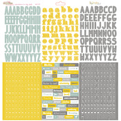 Sunshine In My Soul 12 x 12 Alpha Sticker Sheet - Glitz Design