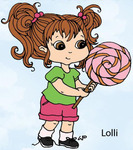 Lolli Rubber Stamp - Little Darlings
