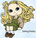 Sitting Pretty Rubber Stamp - Little Darlings