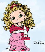 Zsa Zsa Rubber Stamp - Little Darlings