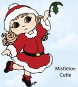Mistletoe Cutie Rubber Stamp - Little Darlings
