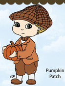 Pumpkin Patch Rubber Stamp - Little Darlings