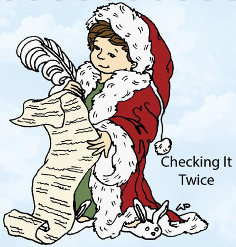 Checking It Twice Rubber Stamp - Little Darlings