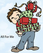 All For Me Rubber Stamp - Little Darlings