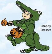 Snappy Dresser Rubber Stamp - Little Darlings