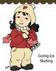 Going Ice Skating Rubber Stamp - Little Darlings