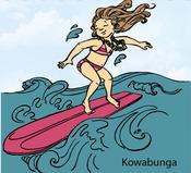 Kowabunga Rubber Stamp - Little Darlings