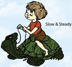 Slow And Steady Rubber Stamp - Little Darlings