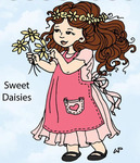 Sweet Daisies Rubber Stamp - Little Darlings