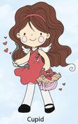 Cupid Rubber Stamp - Little Darlings