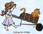 Going For a Ride Rubber Stamp - Little Darlings