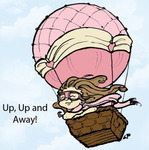 Up Up And Away Rubber Stamp - Little Darlings