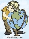 World Civics 101 Rubber Stamp - Little Darlings