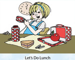Lets Do Lunch Rubber Stamp - Little Darlings