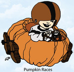 Pumpkin Races Rubber Stamp - Little Darlings