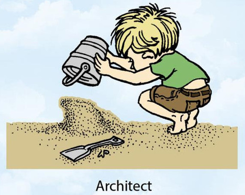 Architect Rubber Stamp - Little Darlings