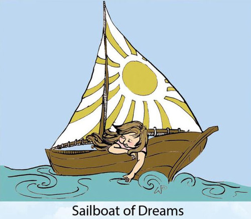 Sailboat Of Dreams Rubber Stamp - Little Darlings