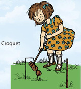 Croquet Rubber Stamp - Little Darlings