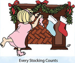 Every Stocking Counts Rubber Stamp - Little Darlings